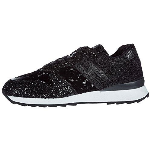 r261 Chaussures Cuir Hogan Femme en Baskets Noir Sneakers HfYq6zw