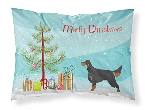 Caroline's Treasures Gordon Setter Christmas Pillowcase, Standard, Multicolor