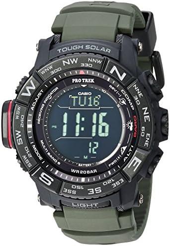 Casio Men's PRO TREK Stainless Steel Quartz Watch with Resin Strap, Black, 20.2 (Model: PRW-3510Y-8CR) WeeklyReviewer