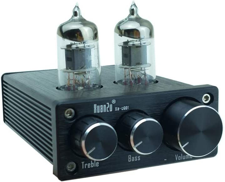 Tube Preamp 6J1 Vacuum pre-Amplifier Volume Control with Treble bass Tone Adjust HiFi for Home Audio