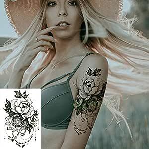 Handaxian 3pcsPegatina de Tatuaje a Prueba de Agua Dragon Body Art ...