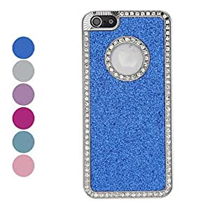 Diamond Frame Shimmering Powder Hard Case for iPhone 5/5S (Assorted Colors) --- COLOR:Purple