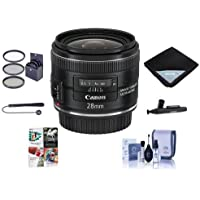 Canon EF 28mm f/2.8 IS USM Lens Bundle. USA. Value Kit with Acc #5179B002