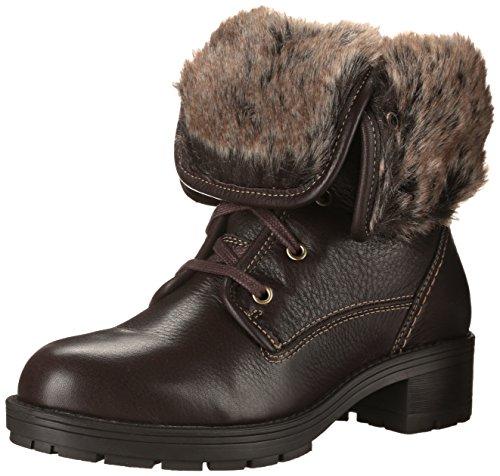 CLARKS Womens Reunite Up GTX Winter Boot Dark Brown Leather