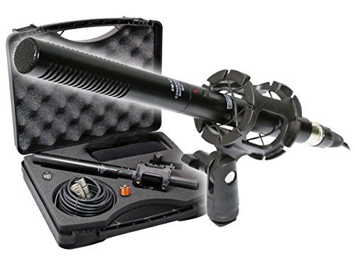 - VidPro XM-55 Professional Video & Broadcast Unidirectional Condenser Microphone Kit, 13 Piece