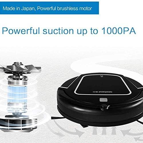CHUTD Robot de Balayage, Rechargeable avec Aspiration élevée par Induction de Goutte de réservoir d\'eau et aspirateur de Robot de vadrouille Intelligent
