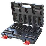 "Black Bull ISOCKET8 Black Bull 1/2"" Drive 12 Point Spindle Deep Impact Socket Set (8 Piece)"