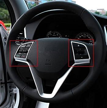 Cromo tuner24 Volante Marco interior Juego Tuning Tapacubos accesorios, mate cromo plata: Amazon.es: Coche y moto