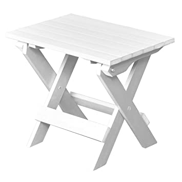 Lovely Highwood Folding Adirondack Side Table, White
