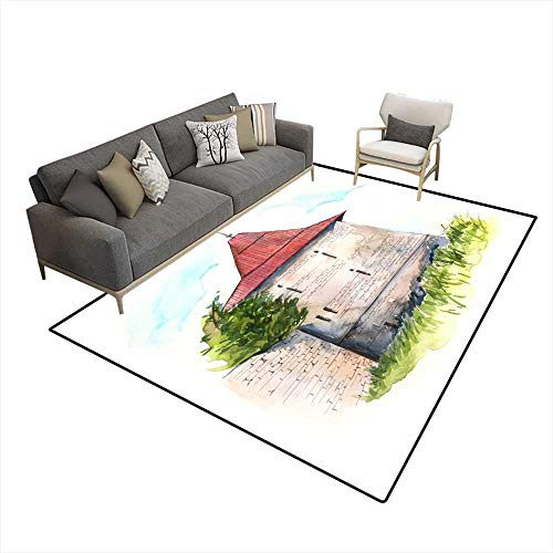 - Area Rugs for Bedroom Angular Square Tower 6'6