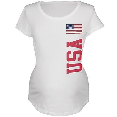 Amazon.com  FIFA World Cup USA White Womens Soft Maternity T-Shirt ... 4b1e81925f