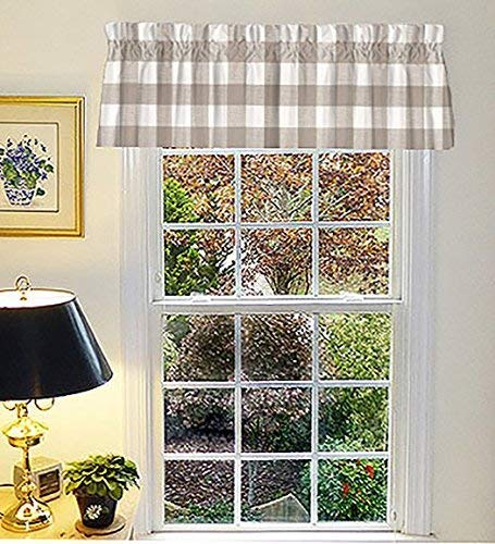 Plaid curtain valances