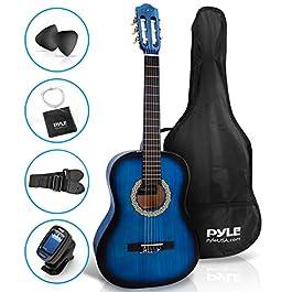 "Beginner 36"" Classical Acoustic Guitar – 3/4 Junior Size 6 String Linden Wood Guitar w/ Gig Bag, Tuner, Nylon Strings…"