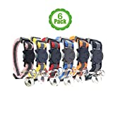 Bemix Pets Reflective Cat Collar with Bell, Set of 6, Solid & Safe, Nylon, Mixed Colors, Pet Collar, Breakaway Cat Collar (6-Pack)