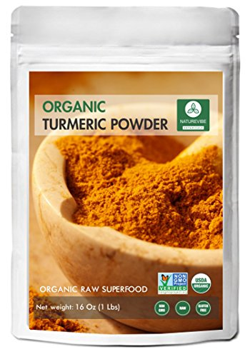 Organic Turmeric Root Powder with Curcumin (1lb) by Naturevibe Botanicals, Gluten-Free & Non-GMO (16 ounces)
