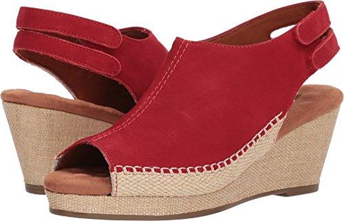 Red Anikka Walking Nubuck Cradles Espadrille Women's Wedge Sandal qgOEY