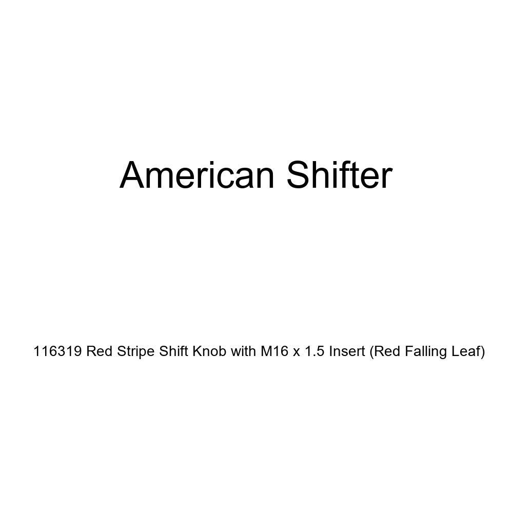 American Shifter 100455 Red Shift Knob with M16 x 1.5 Insert Black Shift Pattern 8n