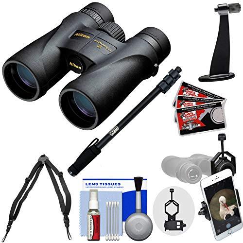Nikon Monarch 5 8x42 ED ATB Waterproof/Fogproof Binoculars with Case + Harness + Smartphone and Tripod Adapters + Monopod + Cleaning Kit