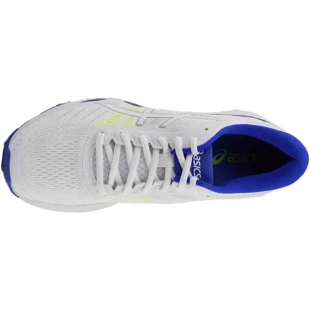 ASICS Women's Gel-Kayano US|White/Blue 24 Running Shoe B01N0AQB30 7.5 B(M) US|White/Blue Gel-Kayano Purple/Safety Yellow 0c4e35
