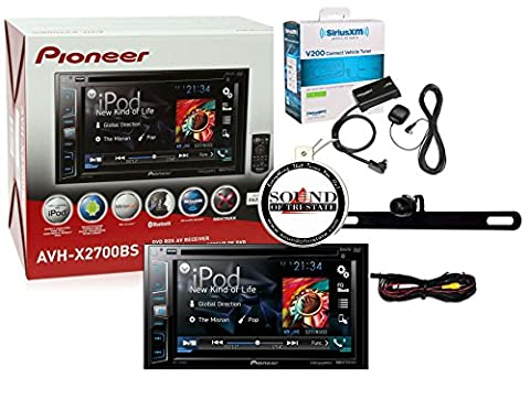 Pioneer AVH-X2700BS w/ SiriusXM and Backup Camera Multimedia DVD Receiver with 6.1