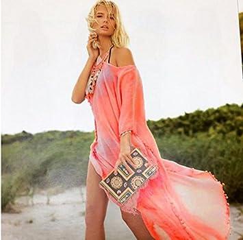 MD Batas de playa suelta el sol Vestido de traje de baño de las mujeres