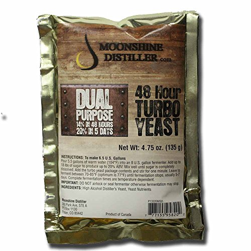 - Moonshine Distiller 48-Hour Turbo Yeast