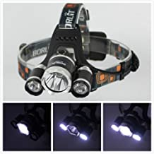 5000lm 3x Cree Xm-l T6 LED Headlamp Headlight Head Light Lamp Only