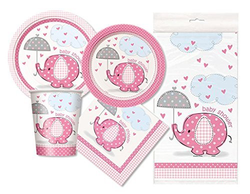 Pink Elephant Baby Shower Party Package - Serves 16 (Baby Theme Baby Shower)