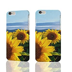 Sunflower Field Photo Plastic Hard Customized Personalized 3D Case For iphone 5c