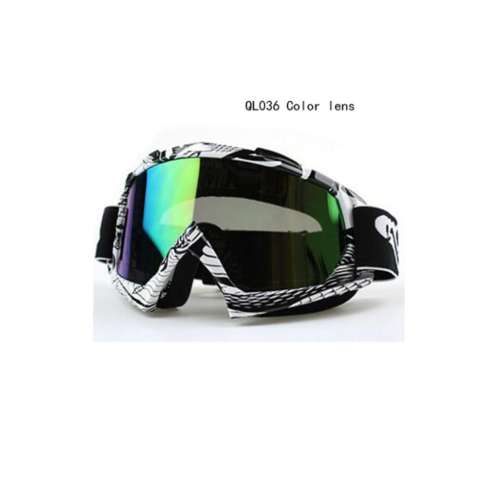 logas Motorcycle Glasses Riding Goggles Protective Anti UV Eyewear for Honda//Suzuki