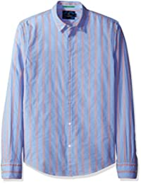 Scotch & Soda mens Longsleeve Shirt in Crispy Poplin Quality With Special Yarn