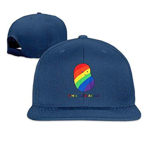 Bean Bag Giants San Francisco (Nquqiyilu Mens I'ma Lez-bean Funny Hip-Hop Navy Hat Adjustable Snapback)