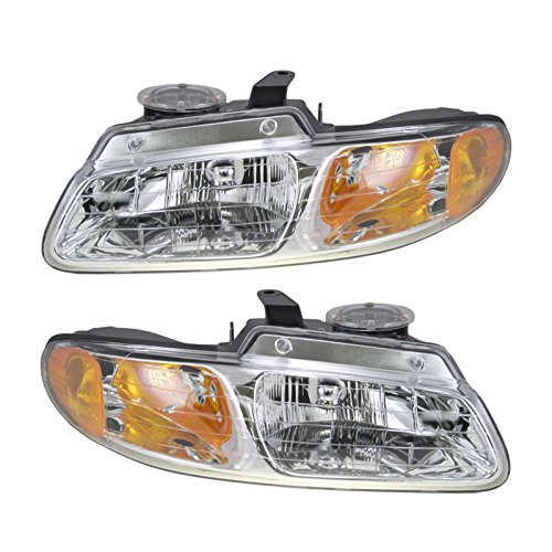 (Headlights Headlamps Left & Right Pair Set for 96-99 Dodge Grand Caravan)