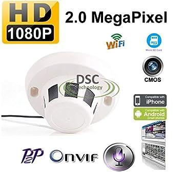 Amazon.com: Cámara espía de 1080p con señal IP digital WiFi ...