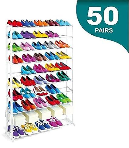 Maxell Power CE Zapatero 50 Pares MAXELL Power Organizador DE Zapatos Mueble Shoe Rack 10 BALDAS