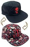 cap marvel comics - Marvel Comics Deadpool Reversible Flat Bill Adjustable Hat