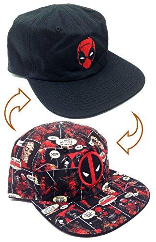 Marvel Comics Deadpool Reversible Flat Bill Adjustable Hat]()