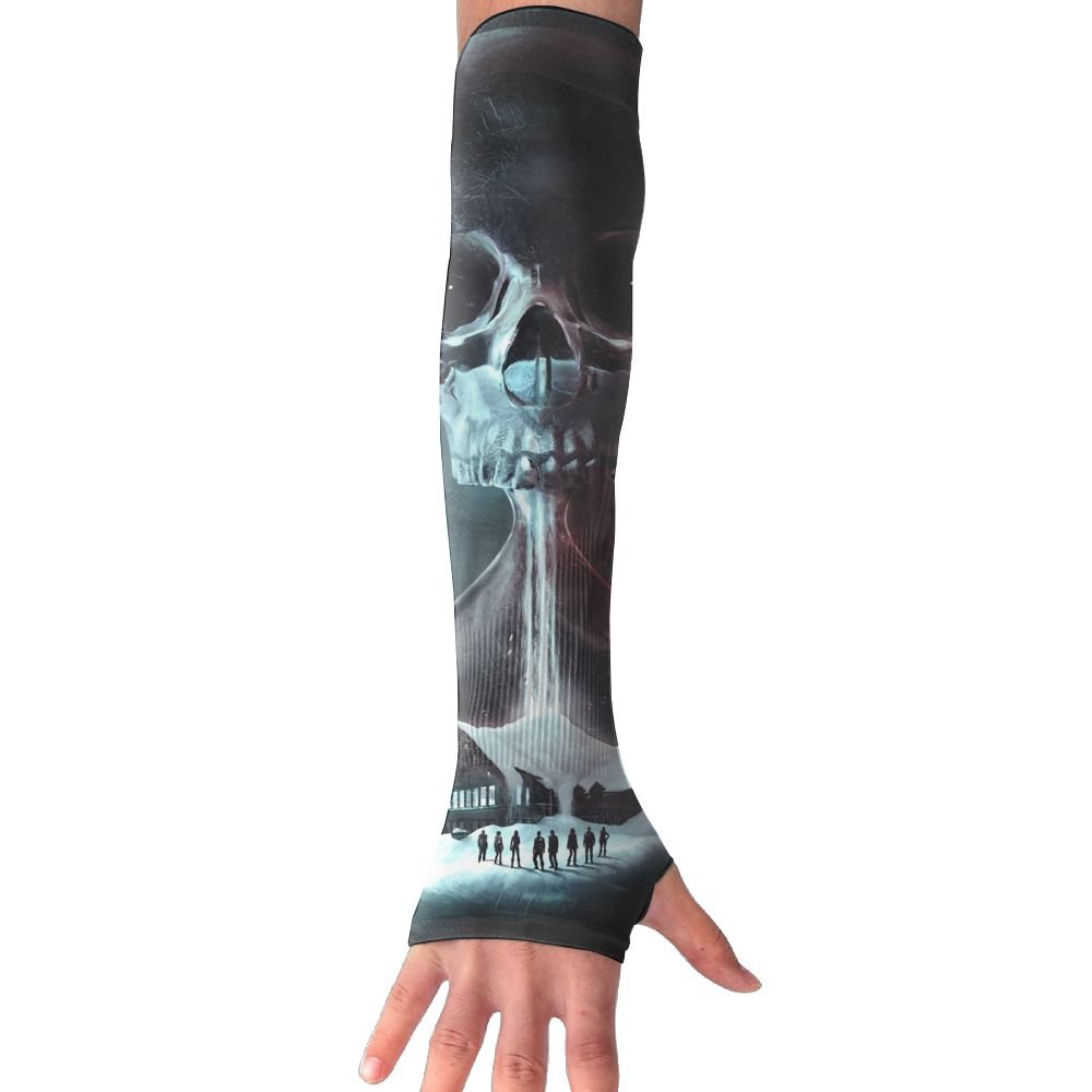 Suining Unisex Dream Skull Hourglass Sunscreen Outdoor Travel Arm Warmer Long Sleeves Glove