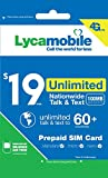 Lycamobile $19 Plan 1st Month Included SIM Card is Triple Cut Unlimited Natl Talk & Text to US Plus 60+ Countries 100MB Of 4G LTE