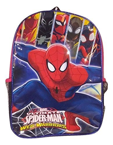 [Spiderman Marvel Action Figure Marvel Boys' Ultimate Spider man Backpack] (College Girl Halloween Costumes Creative)