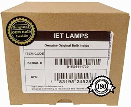 Genuine OEM Replacement Lamp for BenQ 5J.JDM05.001 Projector Power by Philips IET Lamps with 1 Year Warranty