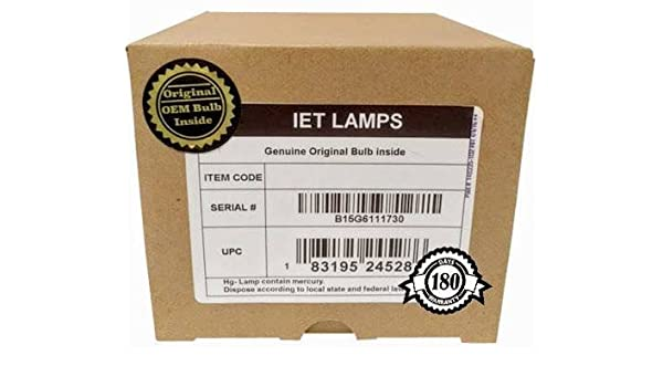 Philips Inside Genuine Original Replacement Bulb//lamp with OEM Housing for Christie 003-120708-01 Projector IET Lamps