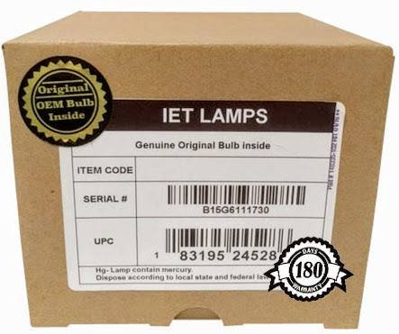 Genuine OEM Replacement Lamp for CHRISTIE 03-900472-01P Projector - IET Lamps with 1 Year Warranty (Power by Philips) ()