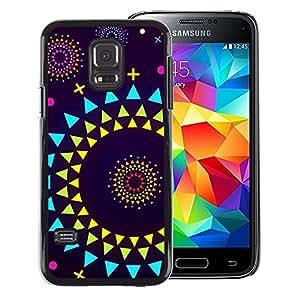 Red-Dwarf Colour Printing Sun Planets Abstract Polygon Art Purple - cáscara Funda Case Caso de plástico para Samsung Galaxy S5 Mini, SM-G800, NOT S5 REGULAR!