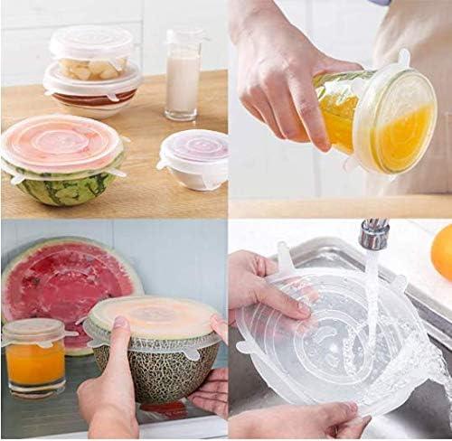 Anlising La Tapa de Silicona Mantiene los Alimentos Frescos y Frescos la Tapa de Silicona el/ástica y la Tapa de Silicona el/ástica