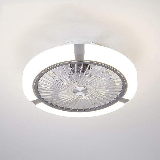 QZZZ Creativo Ventilador Invisible LED Lámpara de Techo Control Remoto Regulable Moderna Salón Sala de Estar Ultra Silencioso Ventilador Lámpara: Amazon.es: Iluminación