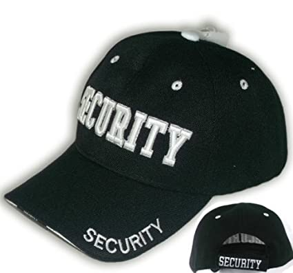 Amazon.com   50 Pack Security Guard Hat Baseball Ball Cap Black ... 6878c1ce8bd
