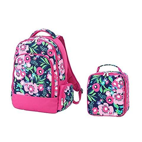 Reinforced Design Water Resistant Backpack and Lunch Bag Set (Posie Floral) - Low Target Sets