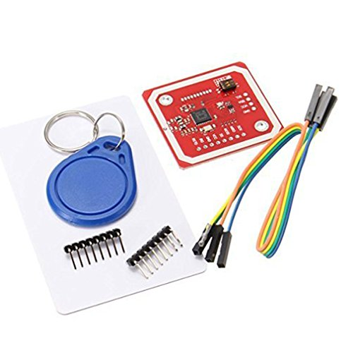 HiLetgo PN532 NFC NXP RFID Module V3 Kit Near Field Communication Reader Module Kit I2C SPI HSU with S50 White Card Key Card for Arduino Raspberry Pi DIY Smart Phone Android Phone