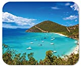 island mouse pad - Jost Van Dyke British Virgin Islands Customized Rectangle Mousepad, Mouse Pad